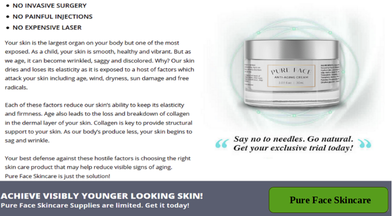 Pure Face Skincare Anti-Aging Cream